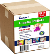 Poly Pellets Bulk (45kg Box) Non-Toxic, Premium USA-made for Weighted Blankets, Rock Tumblers, Stuffing/Filling Dolls, Crafts, Corn Hole Bags, Cross Fit Bags, Rifle Bags, Lap Pads, Sensory Toys