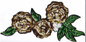 Sequin Patch: Golden Roses