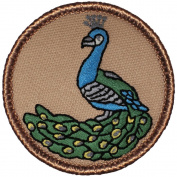 The Peacock Patrol Patch - 5.1cm Diameter Round Embroidered Patch