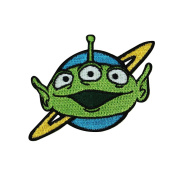 Toy Story Green Alien Iron-On Patch Disney Pixar Movie Character Craft Applique