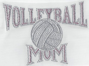 Volleyball Rhinestone, Heat Press, Hot Fix, DIY, applique, rhinestones, crystals, iron on, Volleyball Mom Pink and Grey