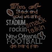 New Orleans Football #3 Rhinestone Iron on Transfer