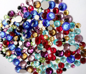 300 pcs 2mm - 6mm Resin Round Rhinestones Crystal Flatback Mix SIZE & colour ~ M1-14