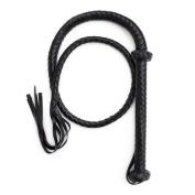 HAPPYTIMEBELT PU Leather Bullwhip Whip Floggers 1.5m Length with Tassel