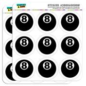 Eight Ball Pool Billiards 5.1cm Scrapbooking Crafting Stickers
