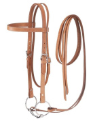 Tough 1 Western Leather Browband Draught Bridle