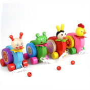 Wooden drum, Misaky Cartoon Animal Beats Creative Game Car Educational Toy
