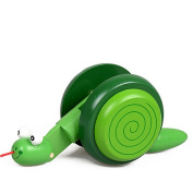 Wooden Snail, Misaky Kid Cartoon Animal Creative Educational Toy Game Car