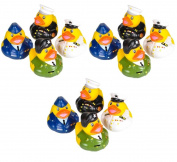 12 Count Armed Forces Style Rubber Ducks