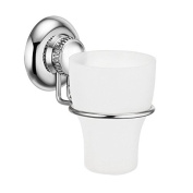 MaxHold No-Drilling/Suction Cup Toothbrush Tumbler Holder - Vaccum System - Stainless Steel Never Rust - for Bathroom & Kitchen Storage