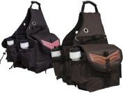 Tahoe Tack Nylon Multi Pocket Horse Saddle Bag with Leather Overlay at .