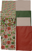 Christmas Printed Tissue Paper, 150 Sheets, Red, Green, White and holiday prints, New 2016 designs
