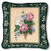 Candamar Designs Victorian Roses Needlepoint Pillow Kit, 36cm x 36cm