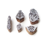 Butterfly and Floral Hand Crafted Designs Wooden Block Stamps