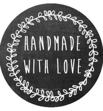 150 Handmade With Love Stickers - 3.8cm Stickers - Rustic Handmade Stickers - Handmade Packaging - Made With Love