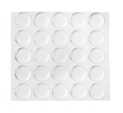 Qishi 100-piece Epoxy Stickers for Bottle Cap Pendants, 2.5cm , Clear