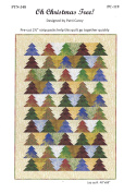 Oh Christmas Tree! Quilt Pattern, by Patti Carey, Designer, Jelly Roll 6.4cm Strip Friendly 3 Size Options, Easy, For Confident Beginner