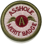 WZT Asshole Merit Badge Morale - Tactical Patch