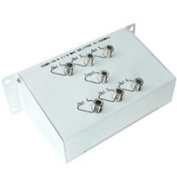 Coaxial Video Splitter, 5-1000mhz, 1 in 6 out - Distributed by NAC Wire and Cables