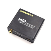 VCANDO HDMI to DVI Converter With Digital S/PDIF Coax and Analogue Stereo Audio Output Supporting HDCP HDMI 1.3