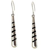 Sterling Silver Shadow Box Drop Earrings
