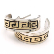 Silver & Gold Overlay Bear Paw Hoops by Skeets