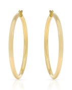 MCS Jewellery 14 Karat Yellow OR White Gold Classic Hoop Earrings (Diameter