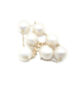 Freshwater White Pearl Necklace 14k Yellow Gold 42cm