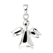 WithLoveSilver 925 Sterling Silver Silhouette Guardian Angel Wing Shape Pendant