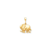 Yellow-gold 10k ELEPHANT CHARM