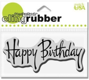 Stampendous Cling Stamp, Graceful Birthday by Woodware Craft Collection Ltd