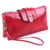 Yafeige Women's Large Capacity Leather Wristlet Wallet Clutch Ladies Small Shoulder Bag