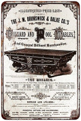 1885 Billiard and Pool Tables Vintage Reproduction Sign 8x12 8122845