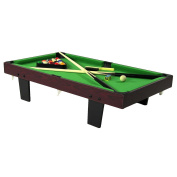 Sunnydaze 90cm Mini Tabletop Pool Table with Triangle, Balls, Cues, Chalk and Brush