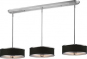 Z-Lite Pool Table Lights - Cameo Pool Table Light - Nickel/Chocolate Shade - 150cm