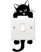 Honbay Cat Removable Wall Stickers Light Switch Decor Decals Art Mural Baby Nursery Room 12 Sets