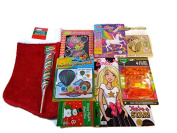 Girls Christmas Holiday Stocking & Stocking Stuffer Bundle