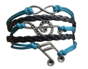 Music Bracelet - Music Jewellery - Music Gift - Treble Clef Jewellery - Music Note- Music Lover Jewellery Gift