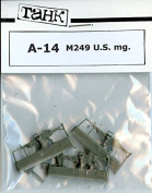 TAHK Tank 1:35 M249 US mg. Weapons Resin Detail #A-14