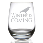 Winter is Coming Stemless Wine Glass