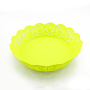 Lautechco 5pcs Lace Pattern Plate of Fruit Fruit Storage Basket Plastic Candy Tray Storage Disc