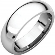 18K White Gold Comfort Fit Band, Size