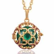 Eudora Harmony Bola Middle East Flavour Angel Caller Prayer Bell Pendant Necklace 80cm