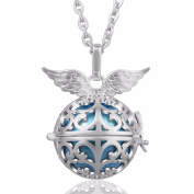 [Angel Wing] Eudora Harmony Bola 20mm Music Chime Pendant Angel Caller Necklace Pregnancy Gift 45 Inches