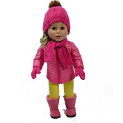Pink Puffer Fall Jacket for 46cm Dolls - American Girl Doll Clothes by The New York Doll Collection