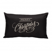 Amiley Cushion Cover Pillow Case , Christmas Pillow Case Sofa Waist Throw Cushion Cover Home Decor 12 X 20