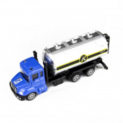 Leegor 1:64 Alloy Simulation Engineering Vehicles Toy Oil Transporter Car Truck Boy Birthday Present Educational Toy Christmas Gift