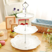 Rely2016 3 Tier Fruit Cake Plate Dish Fitting Hardware Rod Plate Stand Handle Holder Home Party Decor