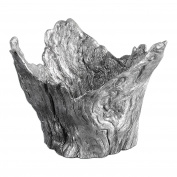 Abstract Silver Tree Root Centrepiece Bowl | Faux Bois Sculpture Modern Contemporary