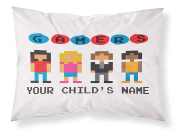 """Customizable, """"Gamer"""" Pillowcase. Personalised With Your Child's Name - Perfect Gift For Boys And Girls Of All Ages! Xbox One Playstation 4"""